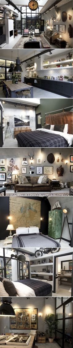 the industrial style loft ideas you've been looking for.   http://vintageindustrialstyle.com/
