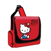 """Hello Kitty  Vertical Messenger Style Laptop Red  accommodates laptops with up to 12 inch screen size. It features exterior, zippered accessory pocket on each side. You can adjust the shoulder strap to your comfort.    * Accommodates Laptops with up to 12 Inch Screen Size   * Adjustable Shoulder Strap   * Durable Nylon Exterior   * Polyester Lined Interior   * Exterior, Zippered Accessory Pocket on Each Side   * Size: 13.4""""(W) x 11.4""""(H) x 3.3""""(D)  $59.99"""