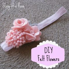 Crafternoon: Felt Flowers | Story of a Rose
