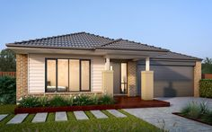 The exciting Regan design has large, spacious bedrooms that you've always dreamed of for your family! Uncover the compact house designs at Metricon. Australia House, House Front Design, Display Homes, Facade House, New Home Designs, Big Houses, New Builds, Outdoor Rooms, House Plans