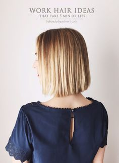 Work Hair Ideas That Take 5 Min or Less - Short Hair Styling Simplified | The Beauty Dept.