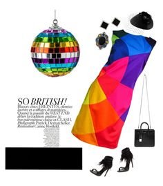 """rainbow dress "" by hiyomi on Polyvore featuring ファッション, Moschino, Schutz, Yves Saint Laurent, Yvel, Rosie Olivia と Gucci"