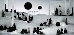 The Black Monk. Oper Leipzig. Scenic and lighting design by Klaus Grünberg. 2006