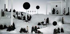 The Black Monk. Oper Leipzig. Scenic and lighting design by Klaus Grünberg. 2006