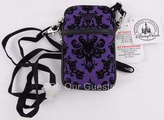 Disney Parks Haunted Mansion Wallpaper Smart Phone Zipper Case New Wristlet #Disney