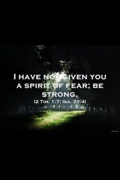 For  God has not given us a spirit of fear, but of power and of love and of a sound mind. (II Timothy 1:7 NKJV)
