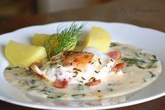Omáčka z hlávkového šalátu recept - Labužník.cz Eggs, Breakfast, Food, Morning Coffee, Essen, Egg, Meals, Yemek, Egg As Food