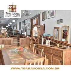 Loja de móveis Terra Nossa, muitos modelos para pronta entrega e pode ser feito sobre medidade. Móveis de Madeira de Demolição para sala, quarto, varanda e cozinha, são mesas, racks, armarios, estantes...