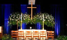 Jennifer Gregory's beautiful altar flowers (Bishop's ordination-Rock Springs)