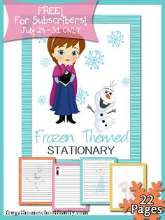Free printable Frozen-Themed Stationery - Money Saving Mom®  Check out www.NYHomeschool.com as well.
