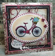 Heartfelt Creations | Pink Bicycle