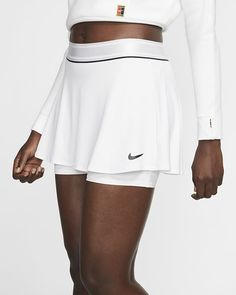 Womens Tennis Skirts, Tennis Outfits, Sports Skirts, Tennis Clothes, Pleated Tennis Skirt, Estilo Fitness, Athleisure Trend, Sporty Chic, White Skirts