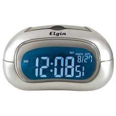 Elgin Electric Alarm Clock 7 Color Display Repeating Snooze New Free US Shipping