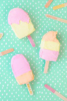 Popsicle Cakes! Maybe for Penny's birthdays in the future instead of cupcakes...because summer.