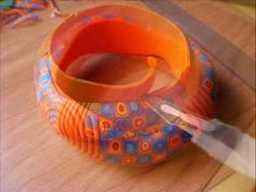 Bangle with extruder.~ Polymer Clay Extruders