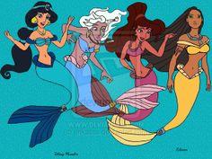 All Disney Princesses as Mermaids | Ohhh elles sont trop sympas en centaures !! =)
