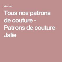 Tous nos patrons de couture  - Patrons de couture Jalie