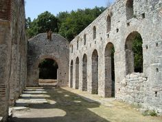 Buthrotum (UNESCO World Heritage Site) was an ancient Greek and later Roman city in Epirus. In modern times it is an archeological site in Sarandë District, Albania, some 14 kilometres south of Sarandë and close to the Greek border