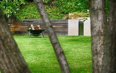#landcape #architecture #garden #water #feature #cascade #firepit #lawn