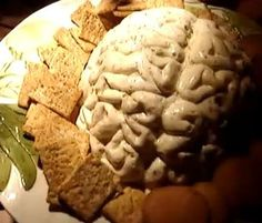 Kenny's Brain Spread - I really do have a mold cast from a human brain.  But if for some reason you don't, it tastes just as good in a bowl :-)