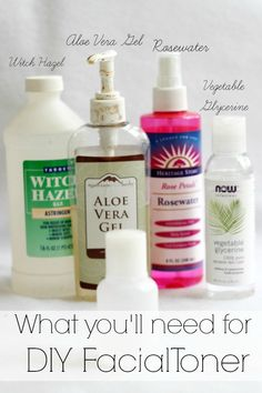 What you'll need to make your own facial toner. You'll feel the difference!