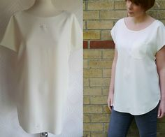 Drafting a simple kimono tee--tutorial from Miss P