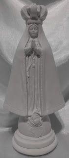 PEÇAS DE GESSO CRU EM SANTO ANDRÉ SP FONE 11 4451 0127 : imagem de gesso sem pintura da : NOSSA SENHORA APA...