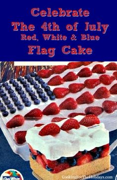 4th of July Flag Cake Recipe