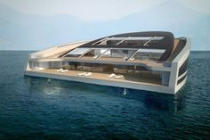 Wally  Hermes = unconventional mega-yacht with space and style
