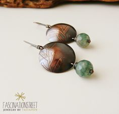 Fascinationstreet B-handmade: Rame, agata e incisione / copper, agate beads and etching