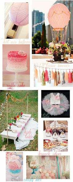 First birthday party. Hot Air Balloons Charming in Charlotte: Mood Board Monday: LK's First Birthday Party