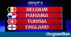 England draw Belgium, Panama and Tunisia in 2018 World Cup group World Cup Groups, Daily News, Panama, Belgium, Brazil, England, Draw, Panama Hat, To Draw