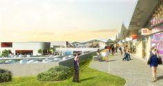 Il progetto propone particolari volumi architettonici che creano uno spazio a forma di C a corte aperta, che accompagna gli ospiti in un'esperienza di shopping completa e fluida.