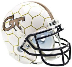 Georgia Tech Yellow Jackets Schutt XP Mini Helmet - Honeycomb