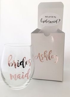 Bridesmaid Proposal Box - Bridesmaid Proposal - Rose Gold Wedding - Will you be my bridesmaid - Bridesmaid Gift - Personalized box - Bridal by OneDaintyTulip on Etsy https://www.etsy.com/listing/497463302/bridesmaid-proposal-box-bridesmaid