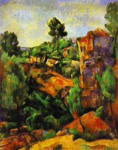 Born on this day Paul Cezanne (1839-1906) - 1898 Canyon of Bibemus (Barnes Foundation)