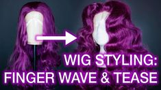 Curling and Teasing Synthetic Wigs: Centre Part Wig Styling Tutorial