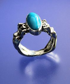 Graceful Nudes TURQUOISE Adult Ring Sterling by RichieStubStudio