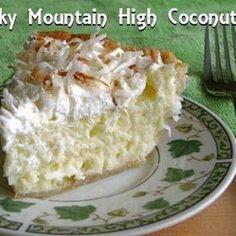 Rocky Mountain High Coconut Cream Pie and other dessert recipes Pie Dessert, Eat Dessert First, Dessert Recipes, Dove Recipes, Coconut Recipes, Cat Recipes, Just Desserts, Delicious Desserts, Yummy Food