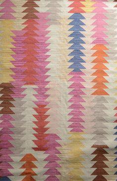 colorful apache rug #pink #orange #yellow