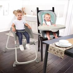 The Trio 3-in-1 Deluxe High Chair™ from Ingenuity™ is three great seats in one! This amazing high chair provides three…
