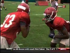 Bama Defensive Back Drills Football Defense, Youth Football, Flag Football, Football Stuff, Football Helmets, Football Training Drills, Football Workouts, Sports Training, Training Tips