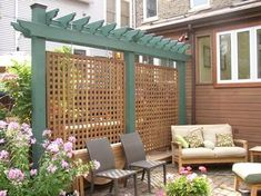 The pergola kits are the easiest and quickest way to build a garden pergola. There are lots of do it yourself pergola kits available to you so that anyone could easily put them together to construct a new structure at their backyard. Backyard Gazebo, Backyard Plants, Wooden Pergola, Backyard Pergola, Pergola Shade, Pergola Plans, Pergola Ideas, Fence Ideas, Backyard Ideas