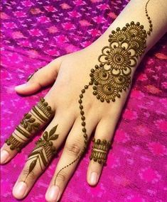 What is a Henna Tattoo? Henna tattoos are becoming very popular, but what precisely are they? Henna Hand Designs, Eid Mehndi Designs, Mehndi Designs Finger, Simple Arabic Mehndi Designs, Mehndi Designs For Girls, Mehndi Designs For Beginners, Stylish Mehndi Designs, Mehndi Designs For Fingers, Mehndi Design Photos