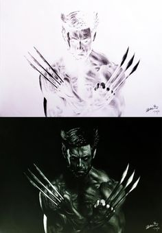 Young artist, Brian La, draws in negative with astonishing results.