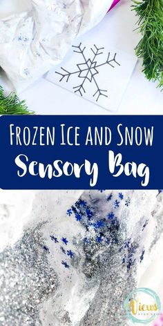 This Winter sensory bag combines temperature and texture for a nice surprise for even the littlest hands. Such a fun way to learn about Winter!