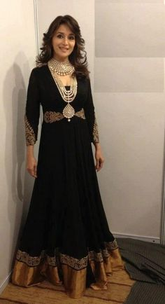 Madhuri in black