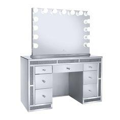 Melanie Premium Mirrored Vanity Table - Impressions Vanity Co.