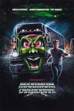 Horror Movie Poster Art : Maximum Overdrive 1986 by Ralf Krause Horror Movie Posters, Cinema Posters, Movie Poster Art, Classic Horror Movies, Iconic Movies, Halloween Movies, Scary Movies, Ghost Movies, Maximum Overdrive