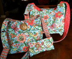 Coral Floral Hobo Bag by SemperFabDesigns on Etsy, $30.00